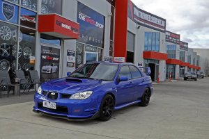 SUBARU WRX WITH 18 INCH HR 556 WHEELS  |  | SUBARU