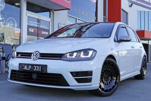 VW GOLF R WITH 19 INCH ROTIFORM WHEELS  |  | VW