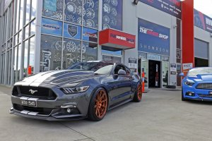 FORD MUSTANG WITH BRONZE KOYA SF04 WHEELS  |  | FORD