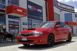 SUBARU WRX WITH HR 556 WHEELS  |  | SUBARU