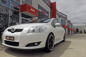 TOYOTA COROLLA WITH 17 INCH HUSSLA GT WHEELS  |  | TOYOTA