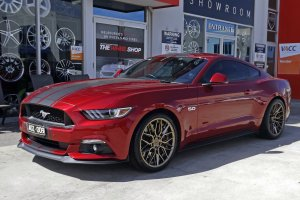 FORD MUSTANG WITH 20 INCH NICHE WHEELS |  | FORD