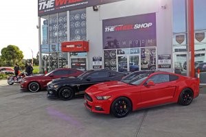 FORD MUSTANGS AT THE WHEELS SHOP |  | FORD