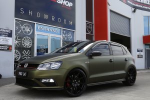 VW POLO GTI WITH KOYA SF04 WHEELS  |  | VW