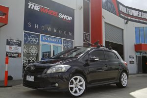 TOYOTA COROLLA WITH 17 INCH HR RACING WHEELS  |  | TOYOTA