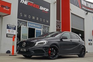 MERCEDES A45 AMG WITH 19INCH KOYA WHEELS  |  | MERCEDES