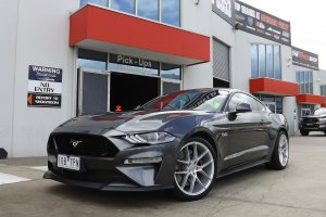 FORD MUSTANG WITH 20 INCH INFORGED WHEELS |  | FORD