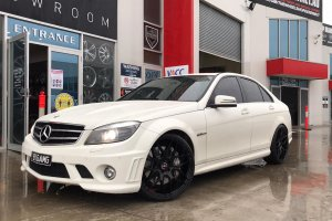 MERCEDES C63 AMG WITH 20 INCH IFG WHEELS  |  | MERCEDES