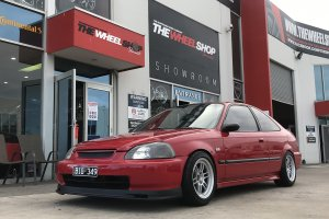 HONDA CIVIC WITH ENKEI WHEELS  |  | HONDA