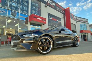FORD MUSTANG WITH 3PIECE SIMMONS WHEELS |  | FORD