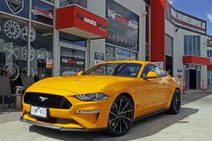 FORD MUSTANG WITH 20 INCH HUSSLA WHEELS  |  | FORD